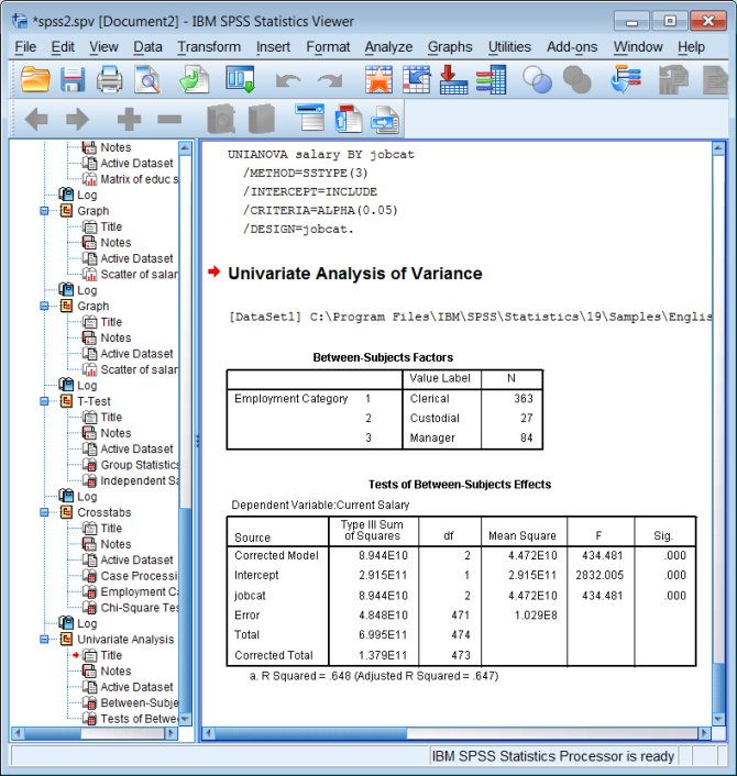 spss for the classroom statistics and graphs